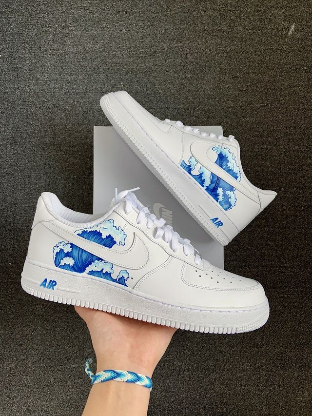 AF1 Black LV in 2020 | Nike air shoes, Nike shoes air force