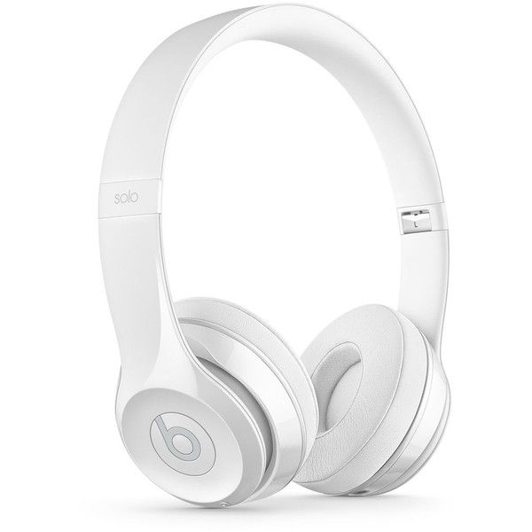 Beats by Dr. Dre Solo 3 Wireless Headphones ($300) ❤ liked on Polyvore featuring men's fashion, men's accessories, men's tech accessories and white