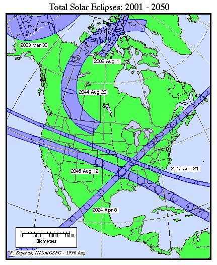 Map of future viewing areas for Totality. The next total solar eclipse visible in the mainland United States will come on August 21, 2017, I have a standing date with my father to go to Idaho to view it!