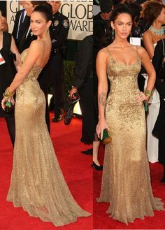 Megan fox gold dress look alike