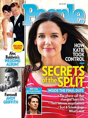 ON NEWSSTANDS 7/13/12: Secrets of the Split: How Katie Holmes took back control of her life. Plus: Alec Baldwin's wedding album, farewell to Andy Griffith and more: http://www.people.com/people/article/0,,20610814,00.html