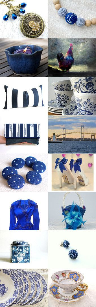 Blue Monday by Rhonda Hallstrom on Etsy--Pinned with TreasuryPin.com