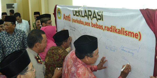 Deklarasi Anti Narkoba Pada Musda VI LDII Kabupaten Gresik