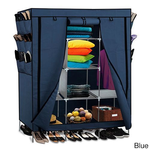 Easy to assemble, this closet storage organizer is portable for convenience. Pockets for shoes will help keep your floor clean, and the shelving inside allows you to stack and hang different items in