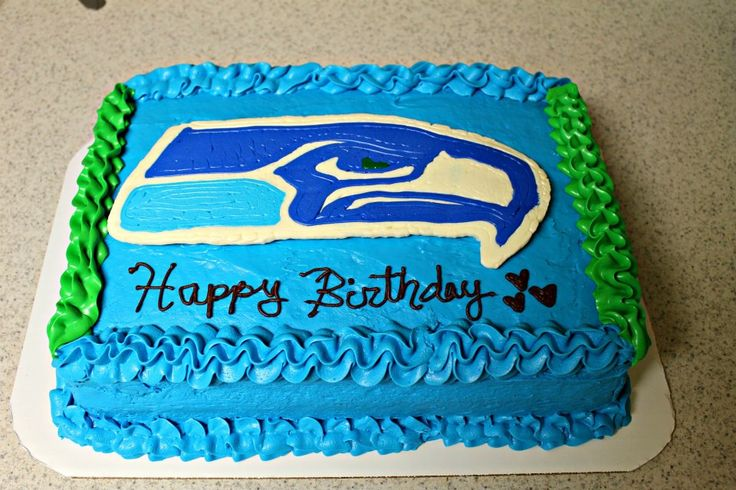 Seahawks Logo - Customer requested the Seahawks logo for her husbands birthday cake.
