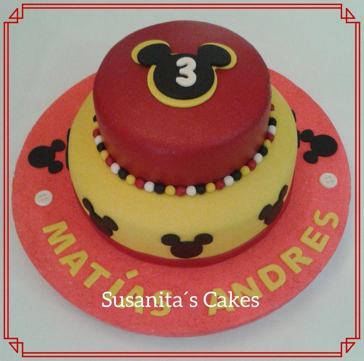 Torta de Mickey Mouse!..mas en www.facebook.com/Susanitascakes ó instagram: @ susanitascakes .#cakes #torta #tarta #decoratedcake #mickeymousecake #mickeymouse #disney #tortadecorada #susanitascakes #talentovenezolano