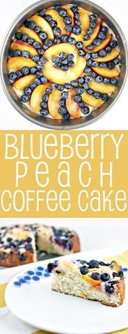 Blueberry Peach Coffee Cake: the perfect breakfast, dessert, or mid-afternoon snack. {Bunsen Burner Bakery}