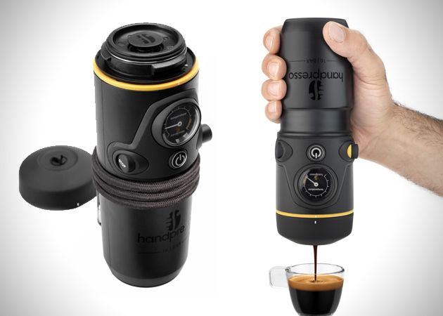 Want a fresh espresso in your car? Now you can and with ease with the Handpresso Auto Espresso Maker.