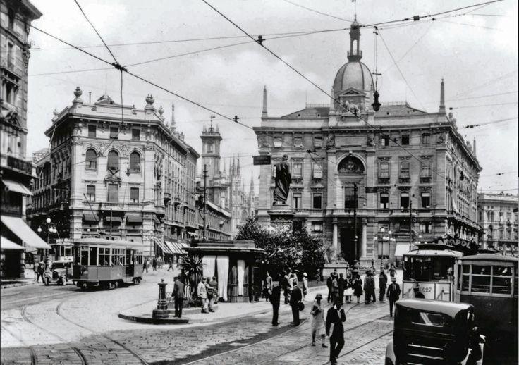 Vecchia Milano P.zza Cordusio 1929