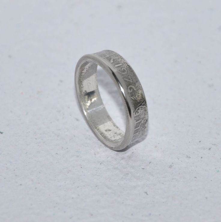Liberte Egalite Fraternite Nickel French franc 1976 Coin Ring Size 9