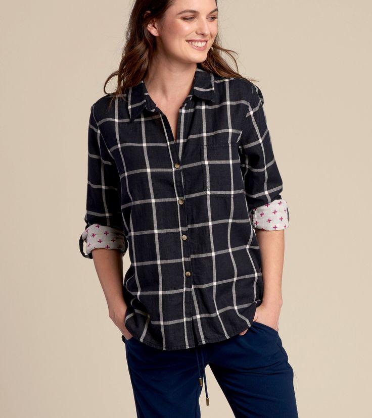 Buffalo Button-Down in Black & Swiss Cross - Tops - Shop All - Women  | Hatley Canada