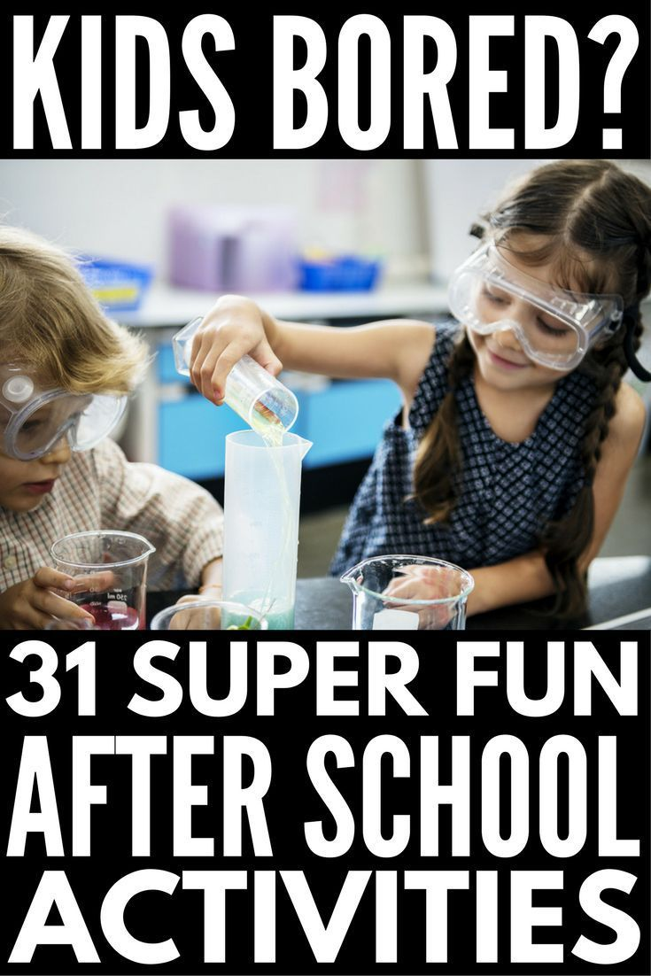 31 After School Activities for Kids! Looking for fun crafts, games, activities and lesson plans to keep busy girls and boys entertained at home after school (or while at daycare)? We've got 31 super fun ideas to keep kids learning and help them blow off steam once their homework is done, and we've included a few ways you can spend quality time with your kids to boot! #afterschoolactivities #kidsactivities #kidscrafts #kidsgames #DIYcrafts #parenting #parenting101 #qualitytime