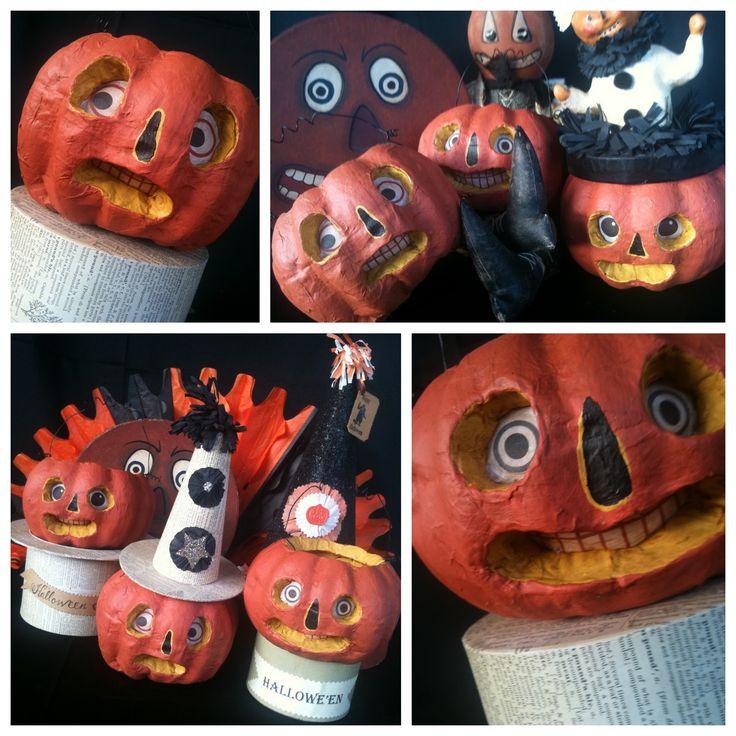 how to make halloween folk art from dollar store pumpkins - Dollar Tree Halloween