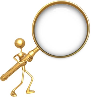 gold glass | Gold Magnifying Glass | PSD Detail