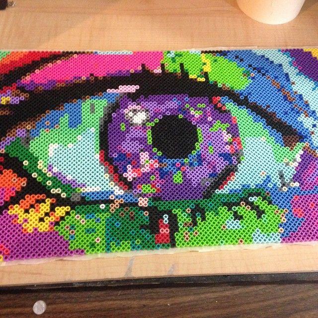 Eye see you - Perler bead art by excilda.is.me