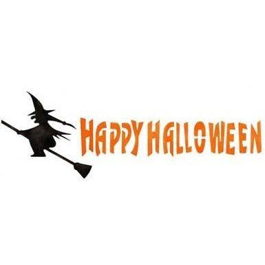 witch happy halloween stencil by crafty stencils