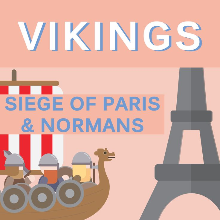 vikings - siege of paris & normans illustration by cans.