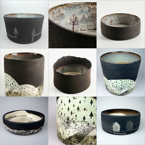 JULIA SMITH CERAMICS Illustrative hand built and printed pots inspired by wild Scottish landscapes. www.juliasmithceramics.com ...