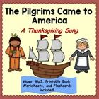 """Thanksgiving Song: """"The Pilgrims Came to America"""" Music Video, mp3, and Book"""" is a fun music and reading activity for Thanksgiving! The mini-video has text, pictures, music, and vocals.  It explains the first Thanksgiving in simple terms.  The song mentions the pilgrims, Mayflower, Native Americans and the feast."""