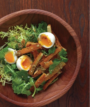 Soft-Boiled Eggs With Warm Croutons and Greens: Food Recipes, Spring Produce, Salad, Soft Boiled Eggs, Produce Recipes, Delicious Dishes, Warm Croutons, Green, Easy Spring