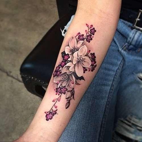 Flower Forearm Tattoo for Girls - Tattoo Shortlist