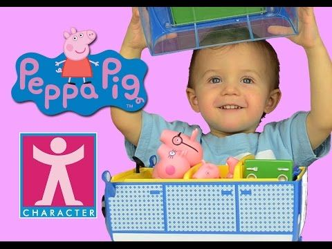 ▶ PEPPA PIG HOLIDAY CAMPER VAN PLAYSET Unboxing & play with Baby Ditzy by DTSE - YouTube
