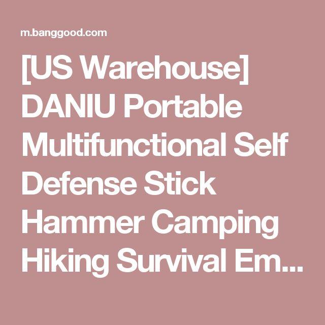 [US Warehouse] DANIU Portable Multifunctional Self Defense Stick Hammer Camping Hiking Survival Emergency Tools Sale - Banggood Mobile