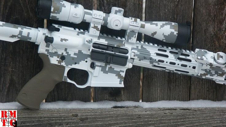 Navy NWU camo rifle done with DuraCoat and Peel 'N Spray Templates. Visit www.lauerweaponry.com to find out how you can do this yourself!