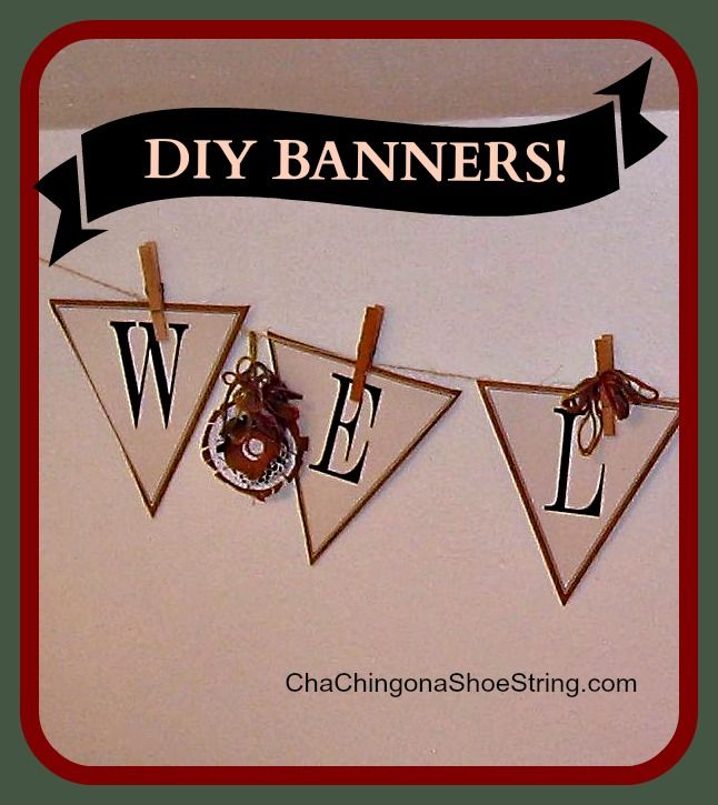 DIY Printable Welcome Banner Tutorial - love this!