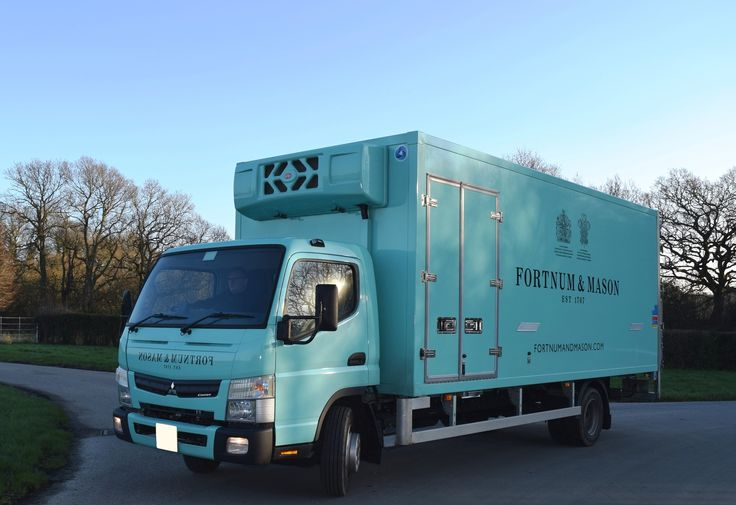 Great Coolertech frozen/chilled dual compartment 7.5 tonner for Abby Logistics and Fortnum & Mason. The FUSO Canter was supplied by Rossetts Commercials.