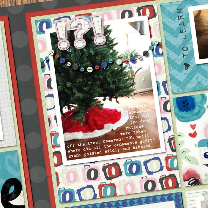 TIP: Journaling cards can be more than just text. Add your photos on top! Since I have put hearts on the top left and bottom left, I balanced this card by adding labels to the right side.