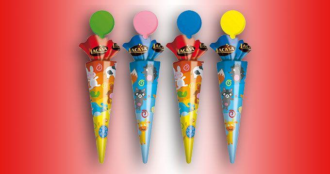 Tambor 50 Parasoles Impulso, de Chocolates Lacasa: Chocolate con leche en forma de parasol, ahora con un nuevo diseño elegido por los niños.