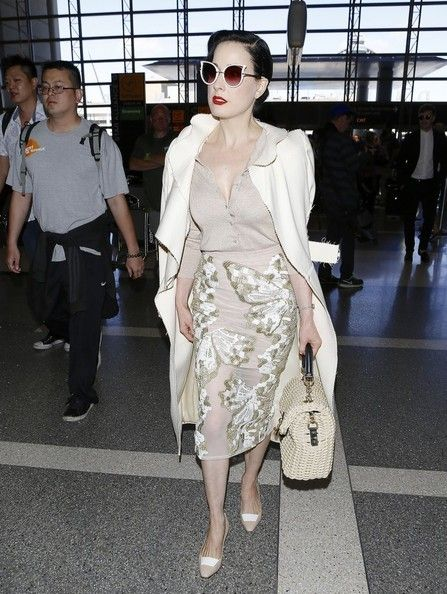 Dita Von Teese Photos: Dita Von Teese Arrives at LAX