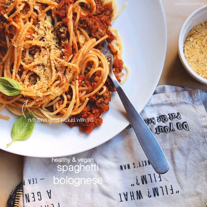 Healthy Spaghetti Bolognese (vegan)