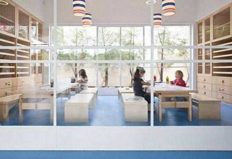 Architecture & Interior design: Lev-Gargir Architects Interior & Furniture design: Sarit Shani-Hai Photography: Amit Geron This unique Kindergarten that stands in one of Tel-Aviv's upscale satellite suburbs was created with the...