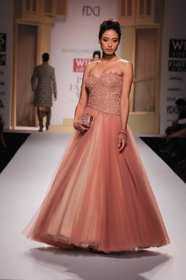 Indian embroideries modernized to European cuts and styling.