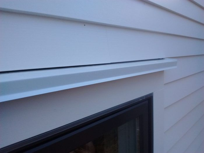 Window Head Trim And Drip Cap Fine Homebuilding Building A House Drip Edge Windows