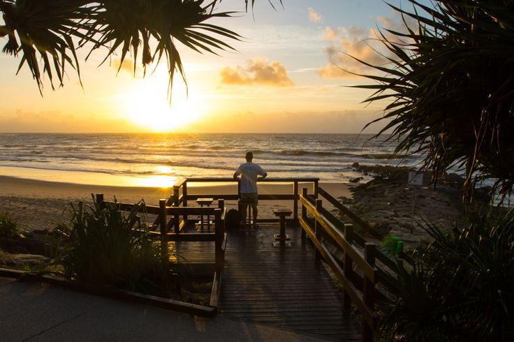 Sunrise at Caloundra on the Sunshine Coast of Queensland, Australia