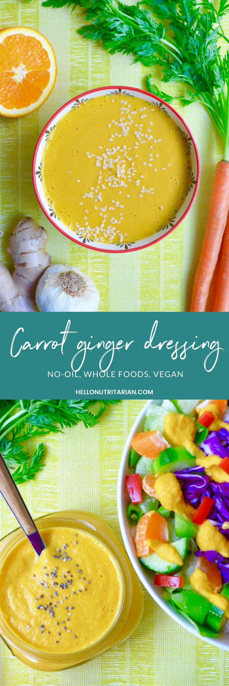 88 best no oil vegan recipes images on pinterest oil free carrot ginger dressing recipe no oil vegan nutritarian whole food forumfinder Choice Image