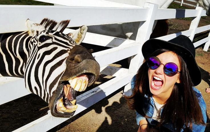 "Nina Dobrev on Instagram: ""Be honest guys. Do we have something in our teeth?"""