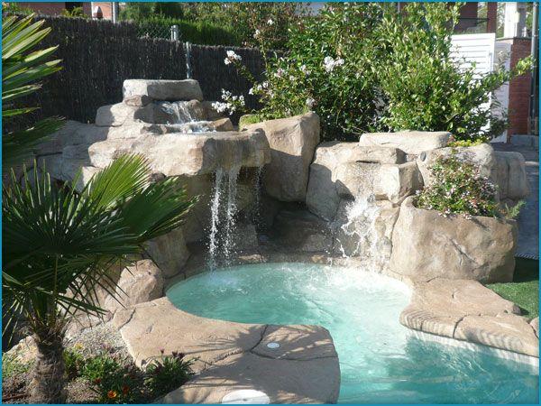 Casetas depuradoras en piedra artificial en piscinas, estanques y ...