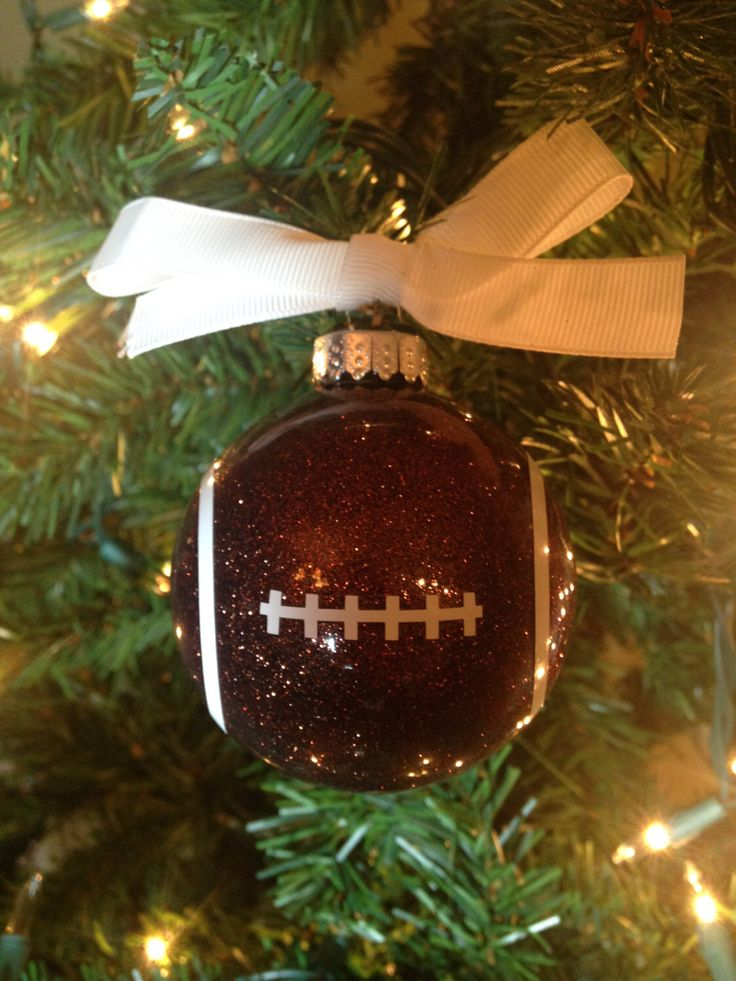 Football Ornament by BrandsynDesign on Etsy https://www.etsy.com/listing/256533425/football-ornament