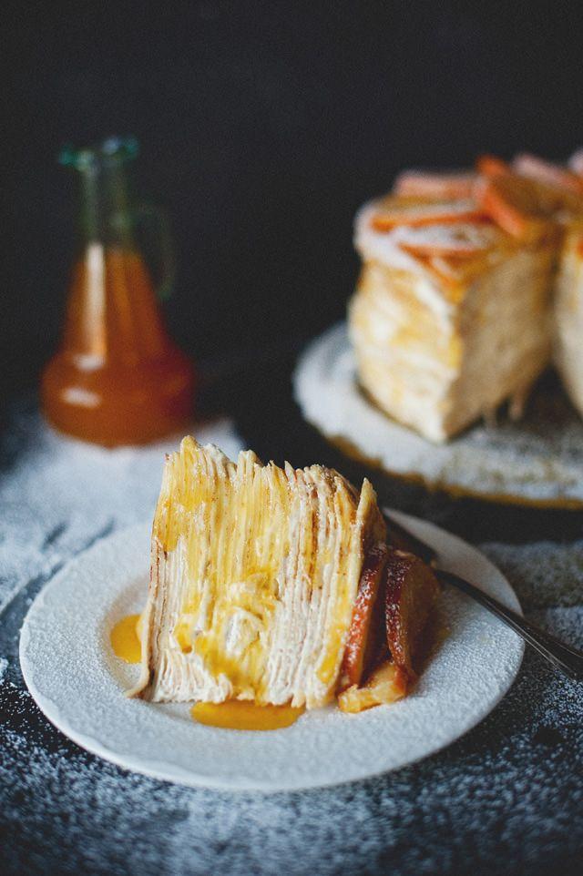 Michelle's Crepe Suzette Cake ~ Hanna's Places