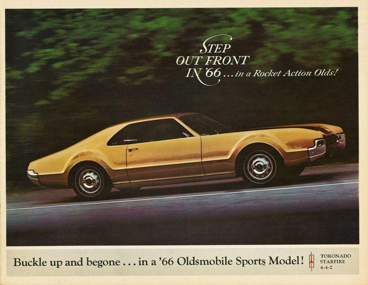 Oldsmobile Toronado, 1966 - Buckle up and begone...in a '66 Oldsmobile Sports…