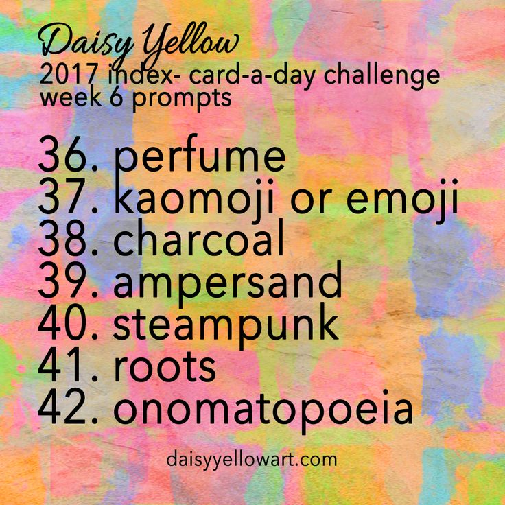 ICAD 2017 Week 6 Prompts & Themes