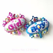 mini balloon baby shower Awnings boy party foil baby boy girl balloons Birthday Party Decoration baloes de festa(China (Mainland))