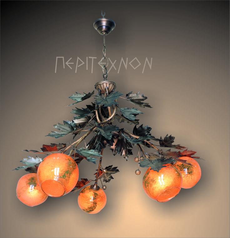 ''Πλάτανος'' Ένα φωτιστικό από αργυρονικέλιο μπρούτζο και φυσητό γυαλι μία δημιουργία μοναδική. http://peritexnon.weebly.com/ http://peritexnon.blogspot.gr/