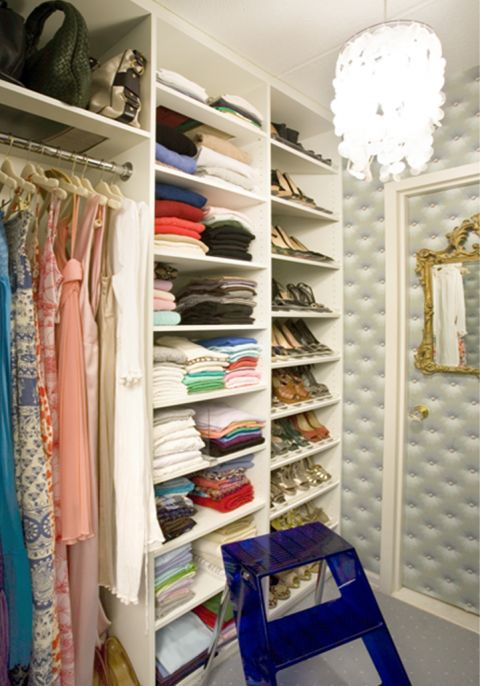 I need to do this on my half of the closet...would help eliminate a lot of mess and disorganization!