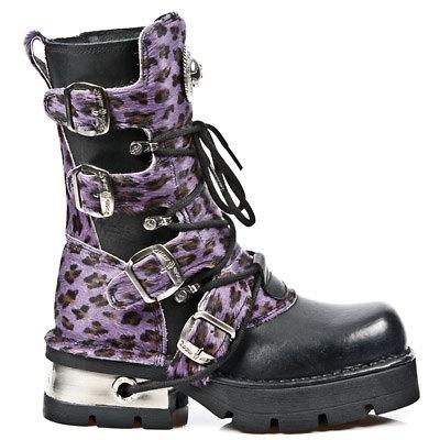 New Rock Stiefel Boots gothic Tower schwarz/lila 30 Tage M.591 C1