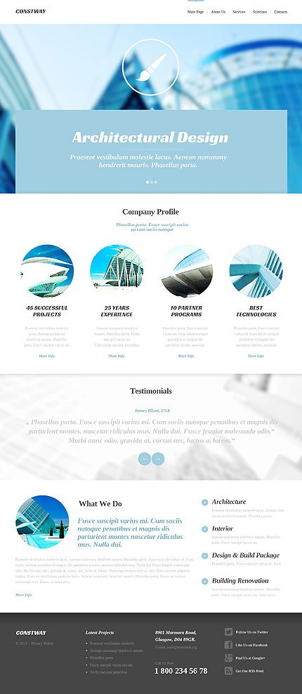 #architecture #design #exterior #interior #building #website #template